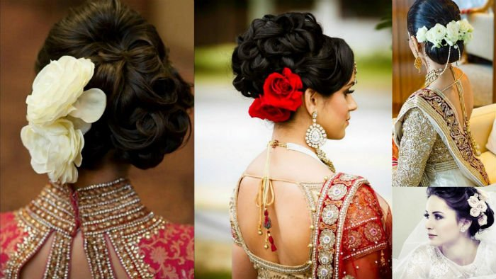 hairstyle with rose