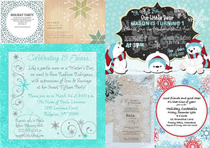 winter party invites