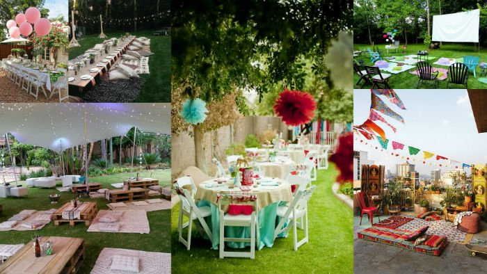 outdoor party theme