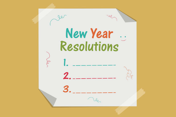 new year resolution card 2018