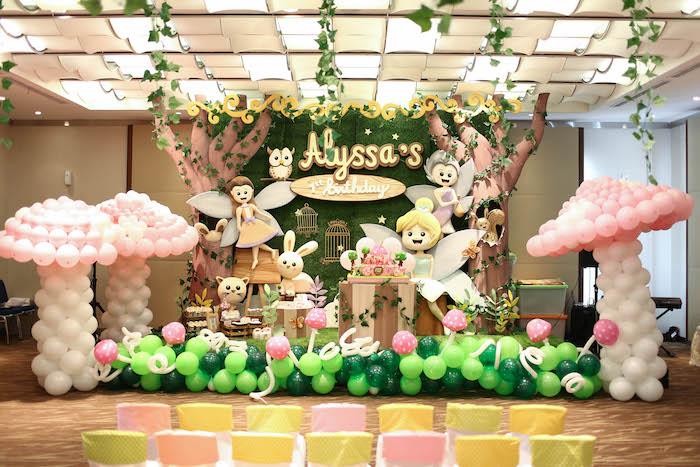 Garden Fairy theme Birthday Party Ideas | Fairy garden first birthday decoration ideas